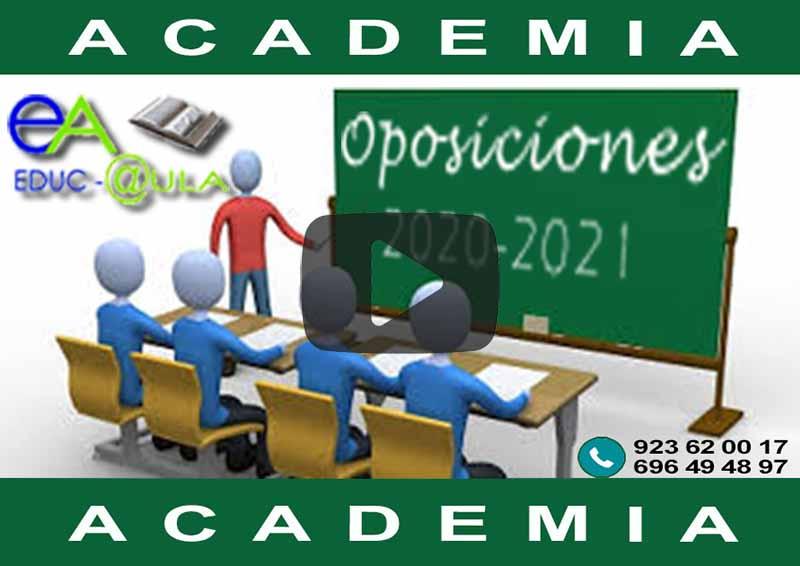 Video oposiciones 2021 docencia